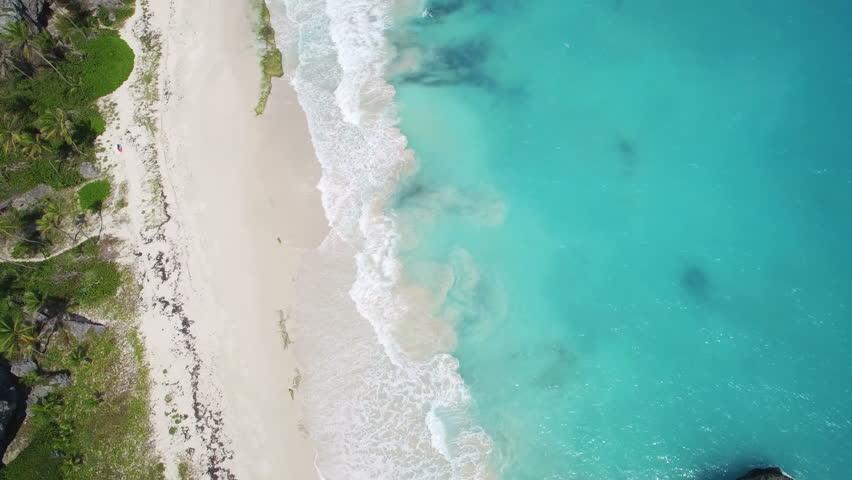 Aerial View Of Mediterranean Sea Beach Israel Top View