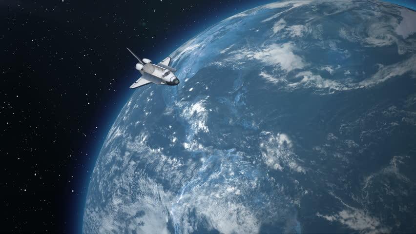 Space Station Deploys Solar Panels 3d Animation Stock