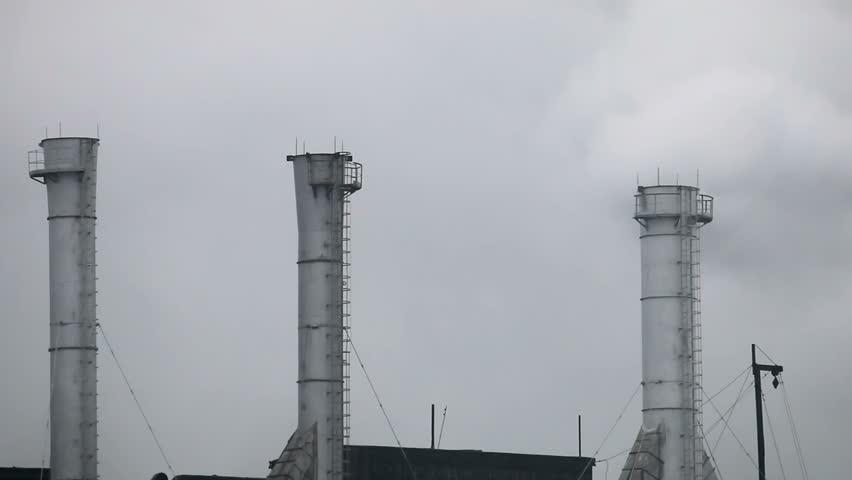 Industrial Chimney Smoke - HD stock footage clip