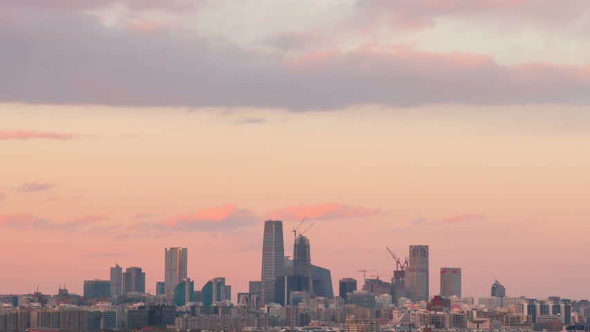 Time Lapse-sunset of beijing skyline/Time Lapse-sunset of beijing skyline | Shutterstock HD Video #14402134