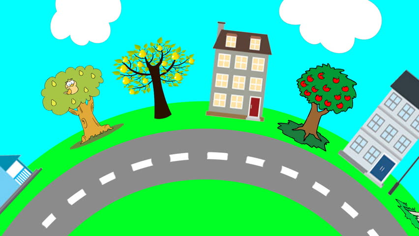 loopable cartoon road scene stock footage video 4340339 road trip clipart black and white road trip clipart red car