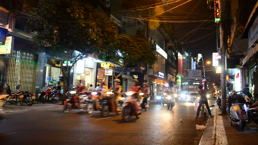 Riding Motorcycle At Night Video