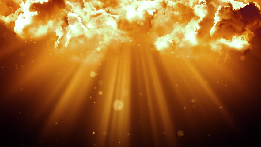 Worship And Prayer Based Cinematic Clouds And Light Rays Background Loop In 4k Hd Resolution