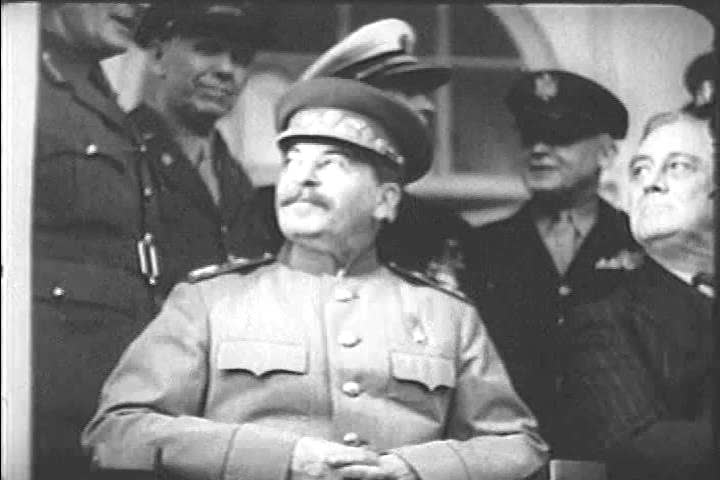 CIRCA 1940s - Stalin could side with Roosevelt operating in Northern and Southern France or with Churchill and the operations in Italy.