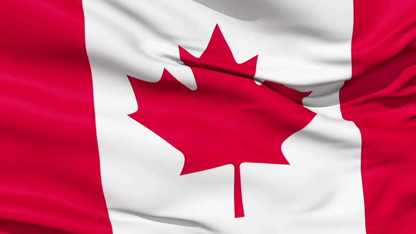 Realistic 3d seamless looping canada flag waving in the for 3d wallpaper canada
