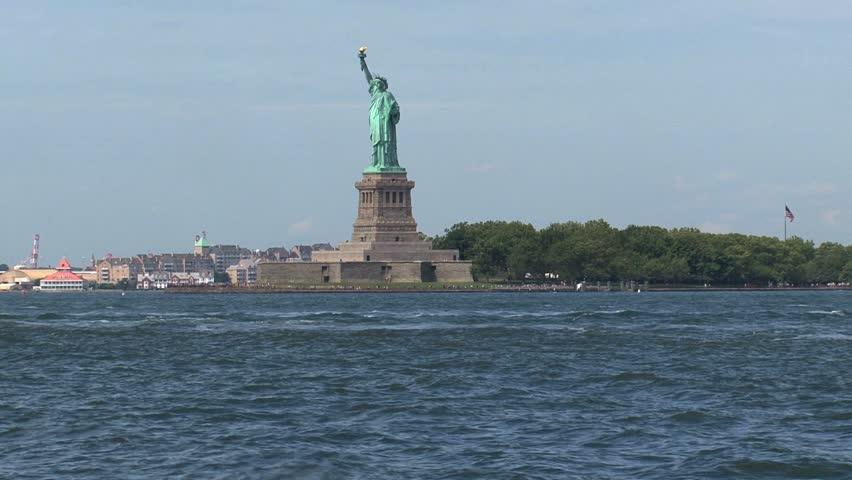 New York - Circa October 2010: Statue of Liberty. | Shutterstock HD Video #1454527