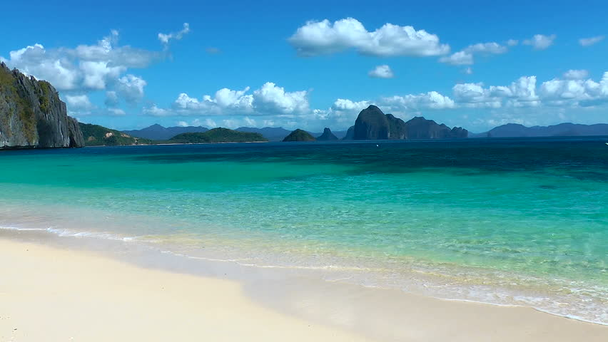 Tropical white sand beach, Palawan, Philippines
