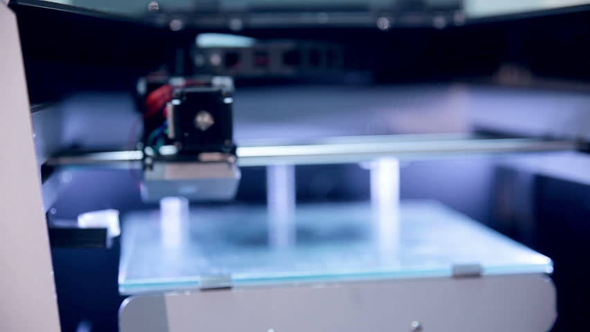 Printing with Plastic on 3D Printer. | Shutterstock HD Video #14562343