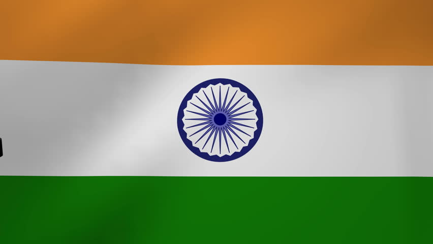 For Indian Flag Hd Animation: Zooming In On Rippling India Flag Animation Stock Footage