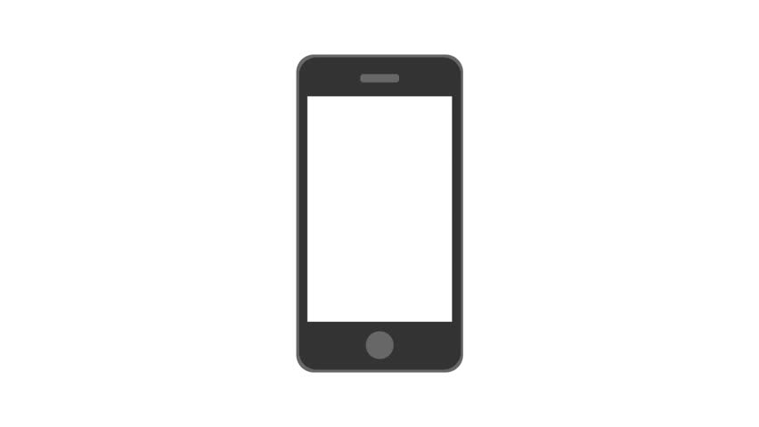 Ringing and vibrating cellphone. Animated vector image on ...
