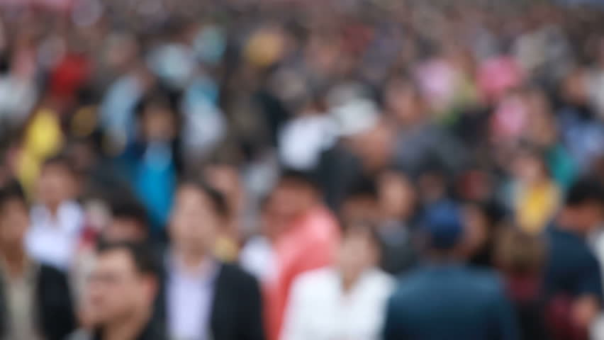 Virtual population - HD stock video clip
