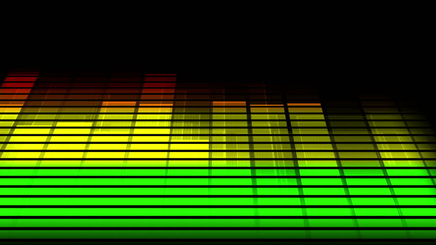 Music Bars Wallpaper: Audio Equalizer Background. Music Control Levels. Loopable