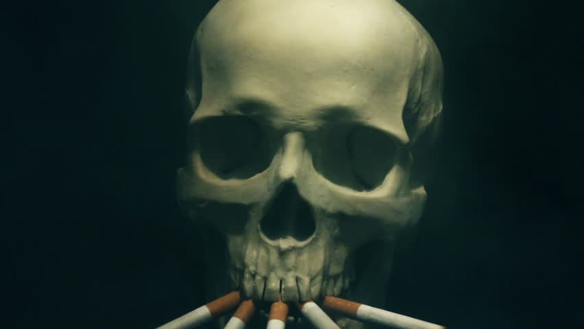 Smoking skeleton | Shutterstock HD Video #14765896
