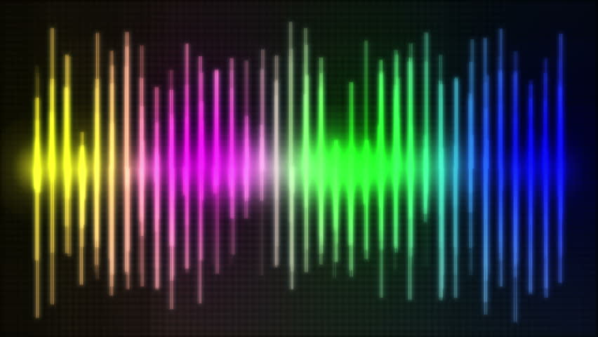 Rainbow Music Background Meaning Colorful Lines And Melody: HD ECG / EKG-curve. A Typical ECG Tracing Of A Normal