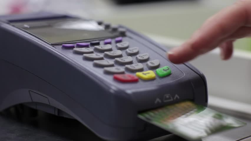 Payment by Credit Card Through the Terminal  | Shutterstock HD Video #14797999