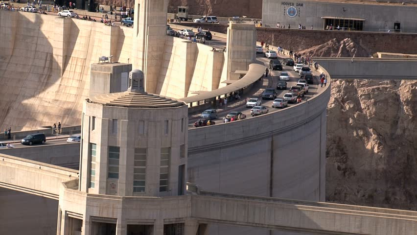 Hoover Dam. - HD stock footage clip