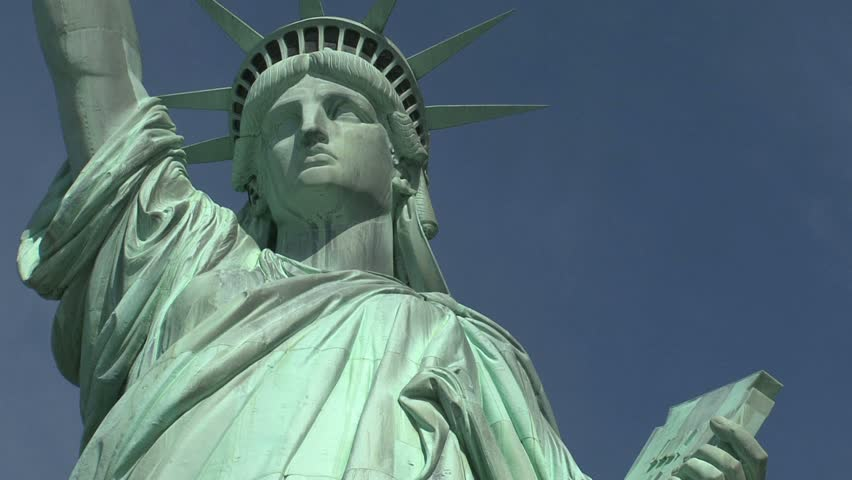 New York - Circa October 2010: Statue of Liberty. - HD stock footage clip