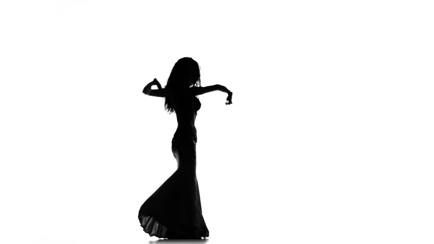 belly dancer silhouette exotic belly dancer woman starts dance with multicolored 5254