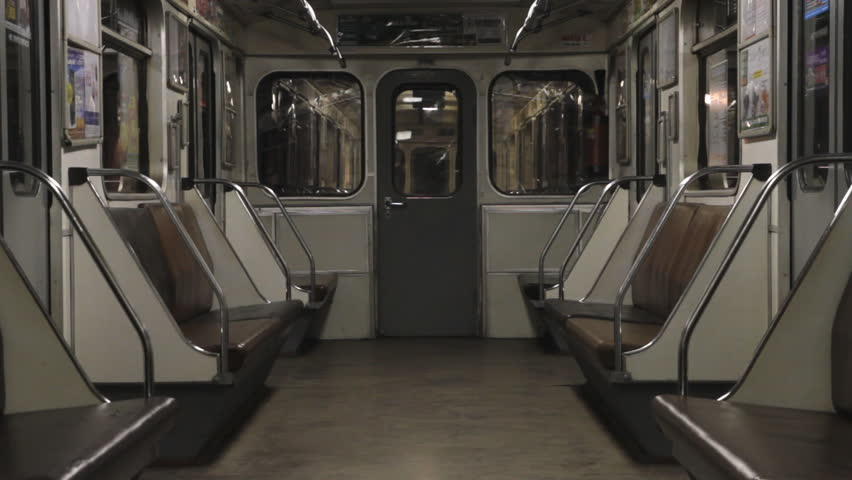 Subway empty carriage of train stockowy materia wideo 1498096 shutterstock - Carrage metro ...