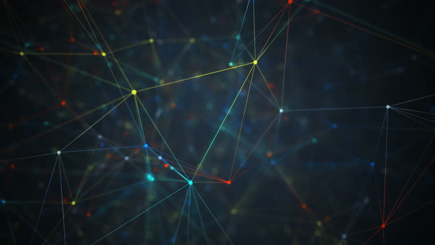 Abstract network connection background. Technology and Connectivity Concept. Molecule And Communication Background.  Dolly Camera Motion Forward with Twist Motion / Navigation | Shutterstock HD Video #15043573