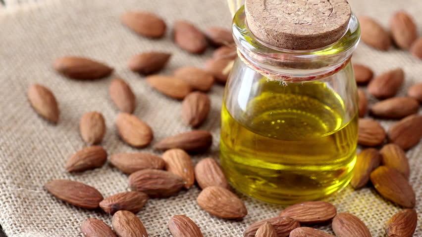 Header of almond oil