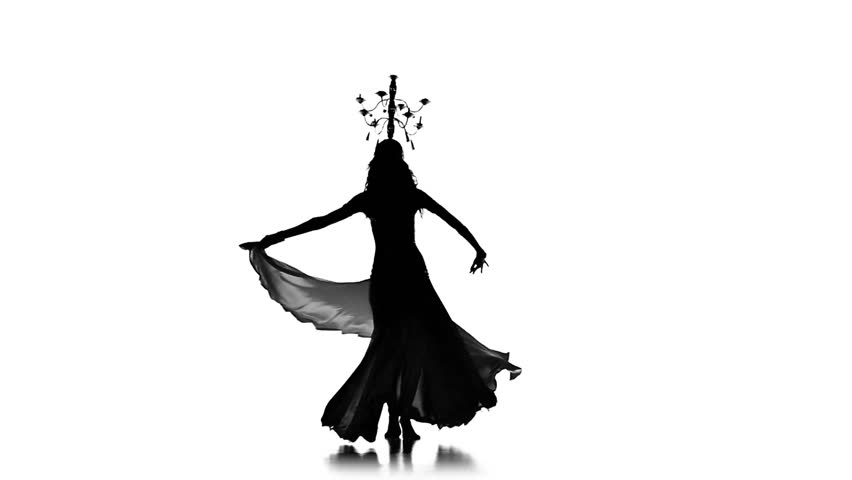 belly dancer silhouette belly dancer woman with burning candles continue dancing 2226