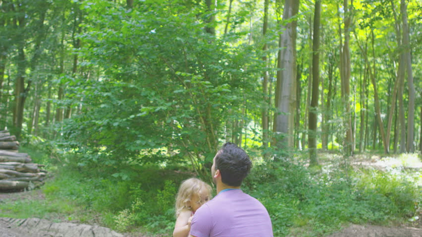 4K Happy affectionate father & daughter playing together outdoors | Shutterstock HD Video #15131089