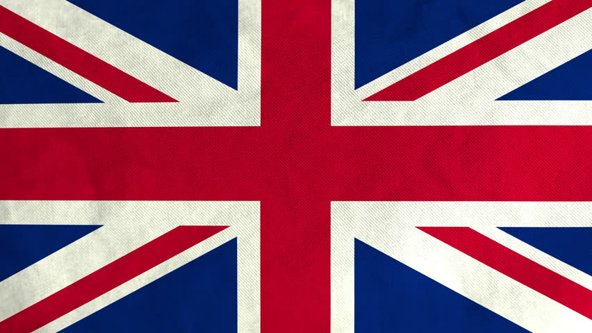 seamlessly loopable waving british flag animation  4k ultra high definition  stock footage video