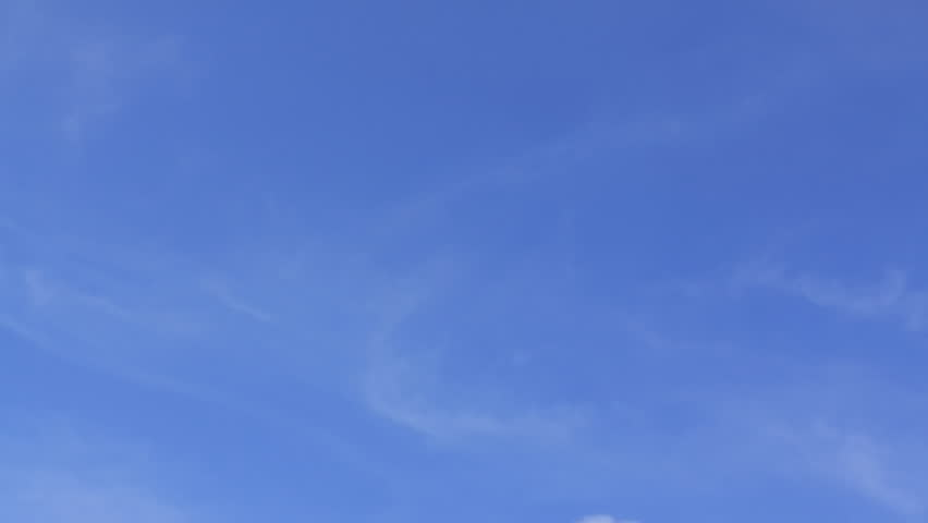 moving clouds and blue sky timelapse  - HD stock footage clip