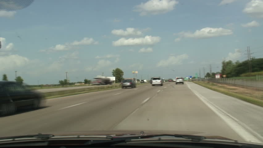 Driving a car from Columbia to Saint Louis, Missouri - time-lapse - HD stock video clip