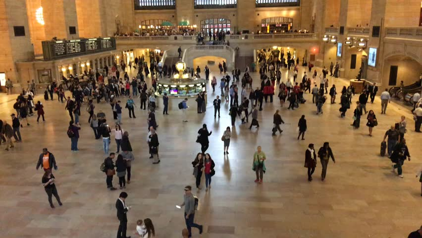 NEW YORK CITY  CIRCA OCTOBER, 2015: Grand Central Terminal interior, time lapse. It is a main gate for city transportation. - HD stock video clip