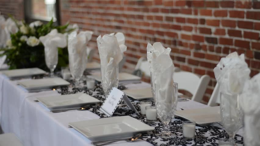 Wedding Reception Decorations - HD stock footage clip
