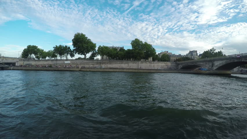 Riverboat riding on the Seine river in Paris | Shutterstock HD Video #15221701