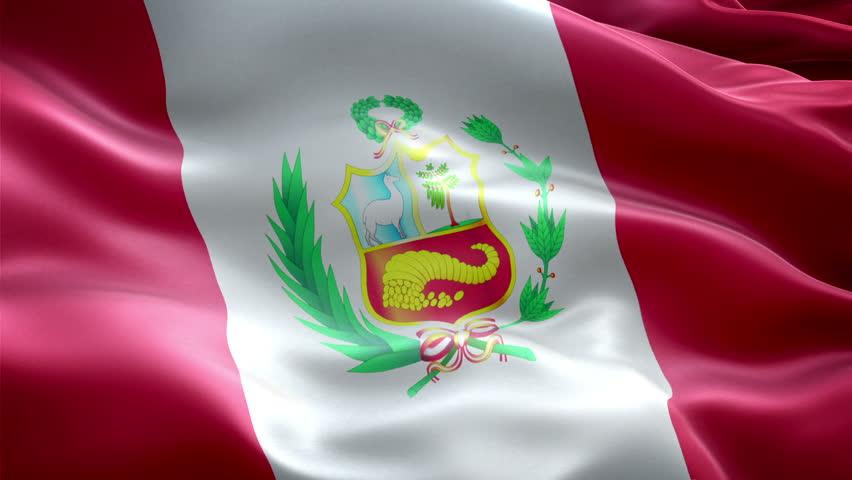 Peru national flag. (New surge effect) | Shutterstock HD Video #15245983