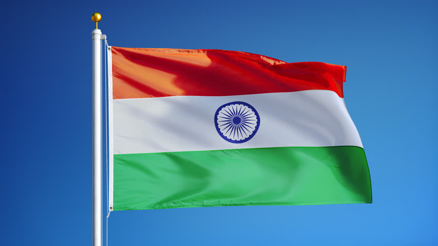 Indian Animated Flag Waving: Detail Of Waving Flag Stock Footage Video 778300
