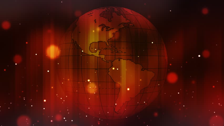 Rotating globe with motion graphics - HD stock footage clip