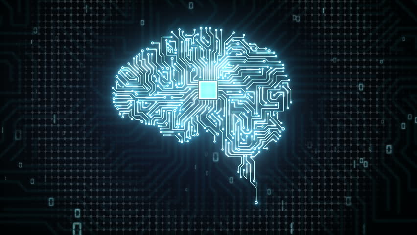 Brain CPU chip, grow artificial intelligence | Shutterstock HD Video #15450454