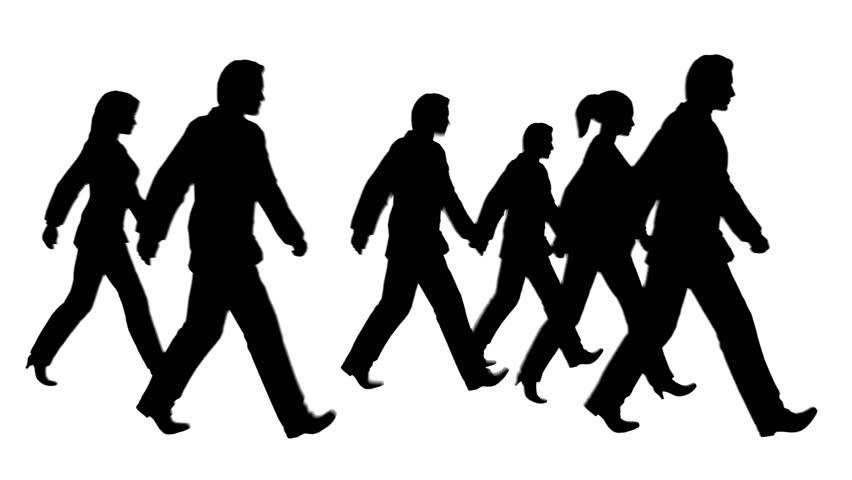 Man Walking Silhouette Stock Footage Video - Shutterstock