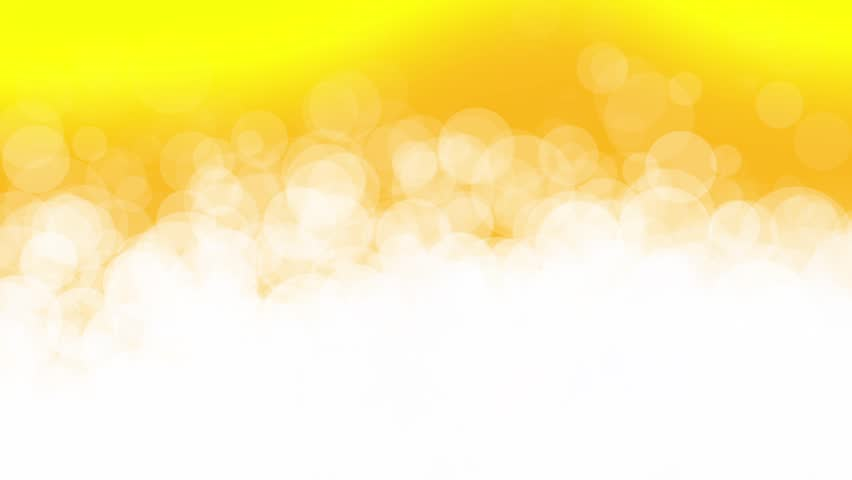 abstract white circle particles animation on yellow