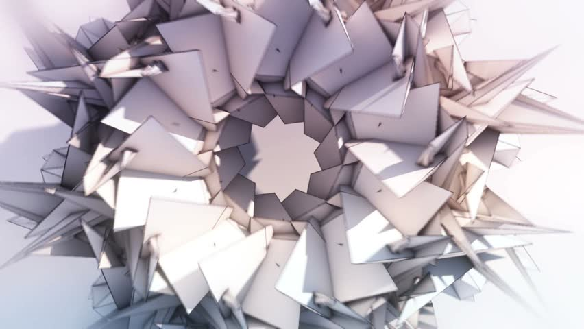 Triangle Paper Origami Background - Center and Lens Flare