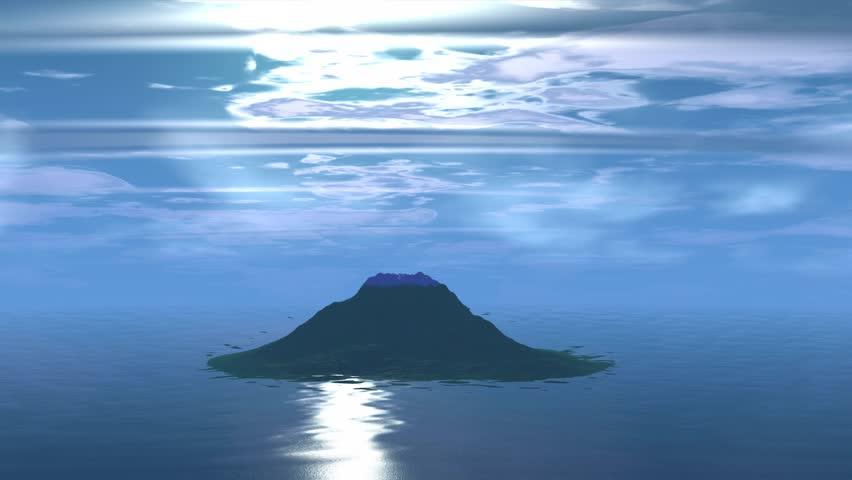 Rocks and  lake. Landscape of stranger planet   Shutterstock HD Video #15628195