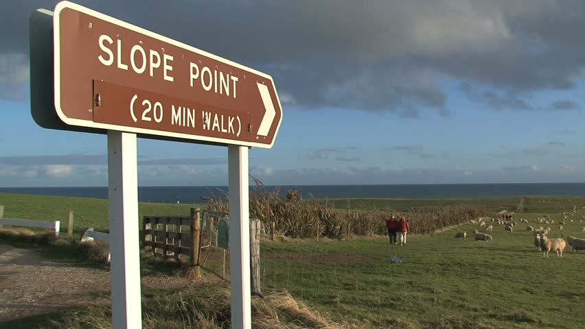 slope point, New Zealand - HD stock footage clip