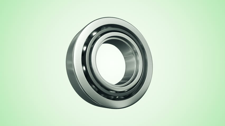Animation of rotation steel ball bearing. Animation of seamless loop. - HD stock video clip