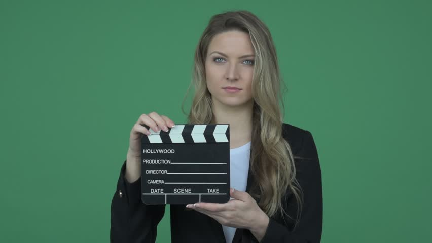 Female director calling out action
