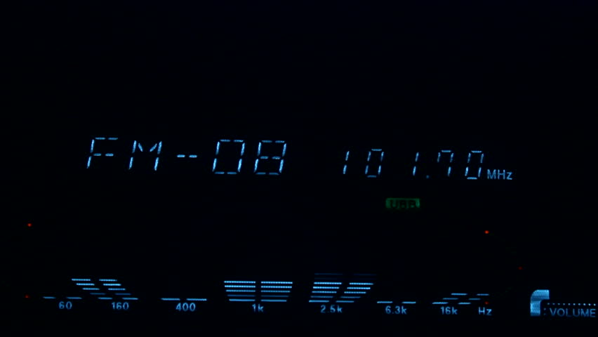 Digital display with equalizer - HD stock video clip