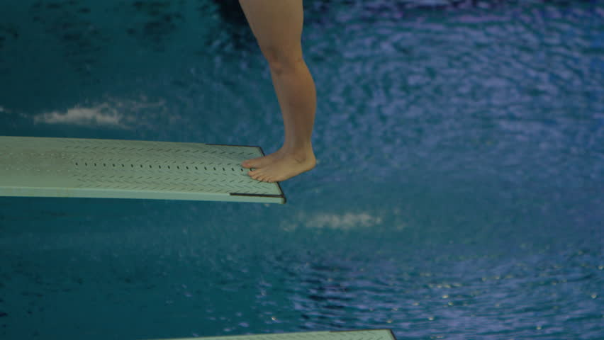 Indoor Swimming Pool Athletic Competitive Diving Stock Footage Video 15960850 Shutterstock