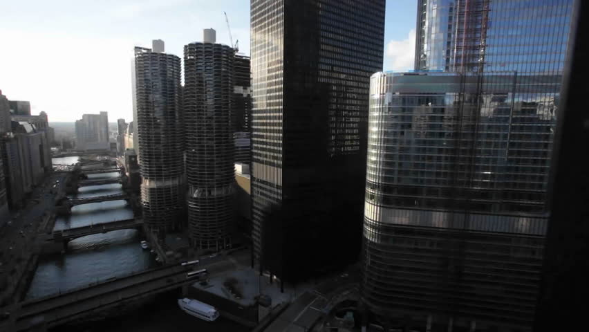 A view of Chicago from a tall building | Shutterstock HD Video #1596772