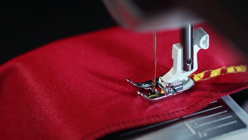 Sewing Machine Close Up Sewing Machine Sew The Fabric