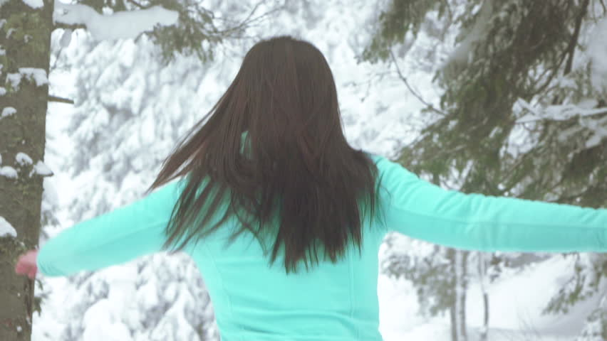 Girl in winter forest | Shutterstock HD Video #16000939