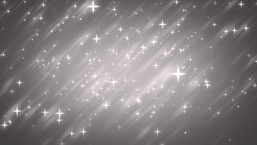 Stars silver bright motion background. Animation grey background with stars and snow particles. Seamless loop. - HD stock video clip